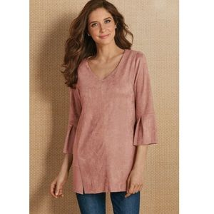 Soft Surroundings Izzy Tunic in blush pink